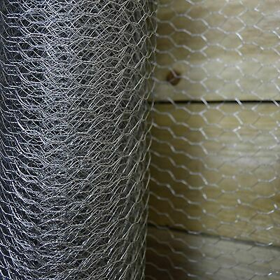 Silver Chicken Rabbit Pet Hutch Poultry Coop Fencing Wire - 25mm Kingfisher • 9.99£