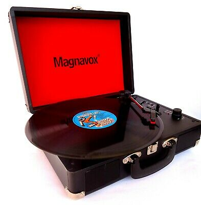 AU129 • Buy Retro Portable Vinyl Record Player-3 Speed-Built In Speakers & USB MP3 Playback
