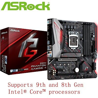 AU175 • Buy ASRock B365M Phantom Gaming 4 ATX Intel LGA 1151 Gaming Motherboard M.2 Type-C