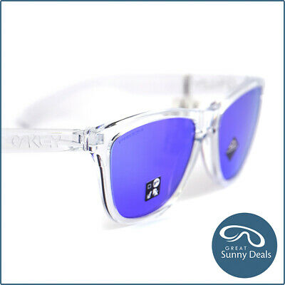 AU141.75 • Buy NEW Oakley Frogskins Polished Clear Prizm Violet (9013-H7) Sunglasses
