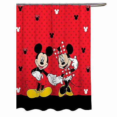 £21.28 • Buy Disney Mickey & Minnie Mouse Classic Shower Curtain Red