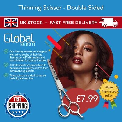 Double Sided Tooth Thinning Blending  Shear Scissors  • 7.99£
