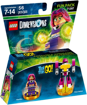 AU43.99 • Buy Brand New Sealed Lego Dimensions Teen Go 71287 Starfire And Titan Robot