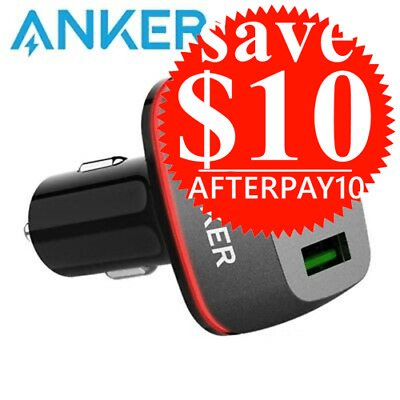 AU39 • Buy Anker Car Charger PowerDrive+ Speed 2 USB Hub Vehicle Quick Charge 3.0 Blackr