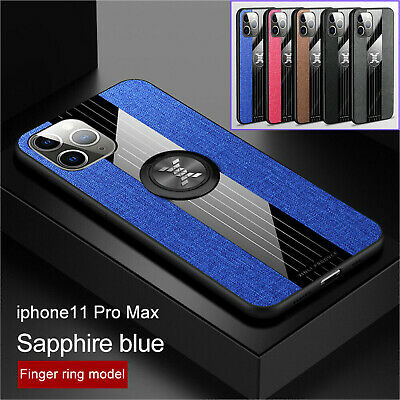 AU18.98 • Buy For IPhone 11 Pro Max XR 8 Plus 7 6S Leather Ring Holder Stand Back Case Cover