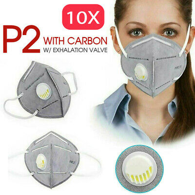 AU49.98 • Buy 10PC Respirator Mask P2/KN95 PM2.5 Anti Pollution Dust Exhalation Valve Half