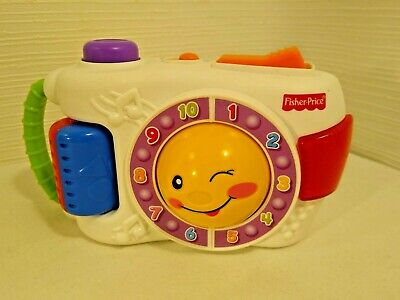 Fisher Price - Mattel - Laugh & Learn Toy Camera - Lights And Sounds - Counting • 5£