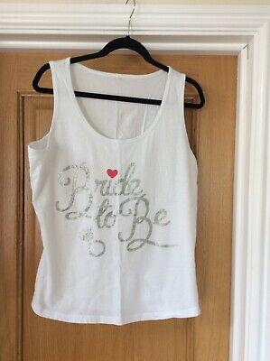 £5 • Buy White Bride To Be Sleeveless Vest Top Size 16-18