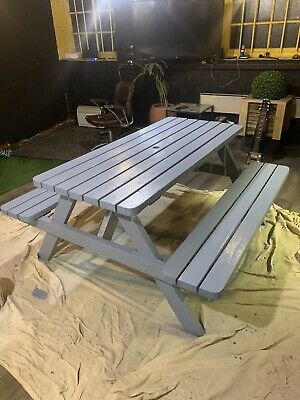 High Quality 5ft/150cm Wooden Picnic Table / Pub Bench With Rounded Corners • 175£
