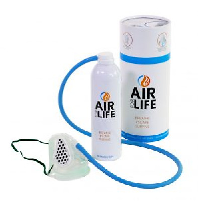 AirforLife Portable Emergency Escape Pure O2 Oxygen Air Supply Canister Mask 22L • 69.95£