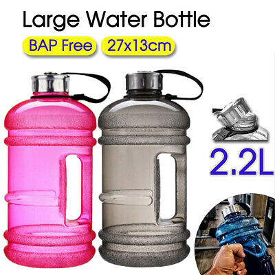 AU13.50 • Buy 2.2L Large Water Bottle Cap Big Drink Kettle BPA Free Sport Training Workout Gym