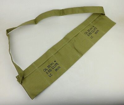 $7.99 • Buy WWII US M1 Garand Bandoleer AMMO POUCH CAL 30 BALL M2 8 RD CLIPS Pouches -1251