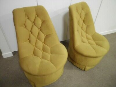 AU185 • Buy Vintage Boudoir  Vanity Chairs X 2  - 1970's Both VGC Well Cared For