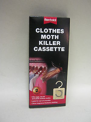 New Rentokil Hanging Clothes Moth Killer Unit Pk2 • 5.49£