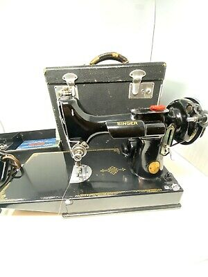 $550 • Buy Vintage 1940 Singer Featherweight Sewing Machine Model 221 W Box & Accessories