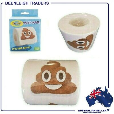 AU6.95 • Buy Novelty - Emoji TOILET PAPER - Smiling Poo - BRAND NEW