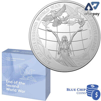 AU149.95 • Buy 2020 $5 End Of The Second World War WWII 1oz Silver Proof Coin