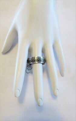 $9.99 • Buy Stainless Steel Spinner Ring Flames Pattern Thumb Ring Band Unisex Size 10
