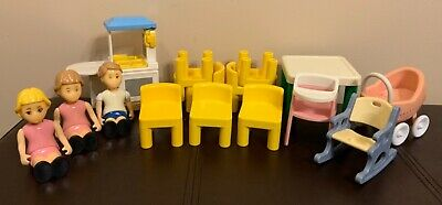 $79.99 • Buy Little Tikes Doll House Furniture & People 15pc Lot Chairs Table Fast USPS Ship