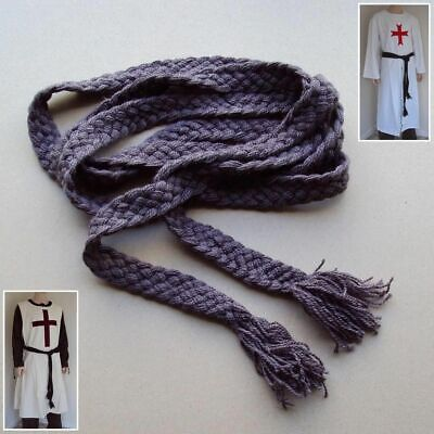 Medieval Plaited 100% Woollen Belt - Brown For Costume Re-enactment Stage & LARP • 25£