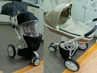 $199 • Buy Quinny Moodd Stroller Set - With Bassinet, Sun Cover And Two Umbrellas.