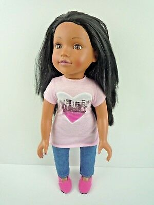 £15.99 • Buy Design A Friend Doll 18  Black Hair With Outfit & Shoes / Chad Valley