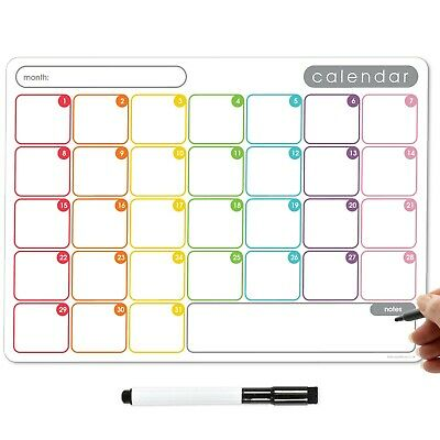 £8.95 • Buy Magnetic Fridge Calendar, Dry Erase Whiteboard Weekly Monthly Planner To Do List