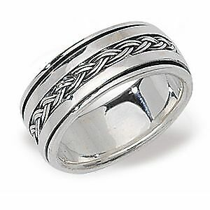 Sterling Silver Gents Mens Spinning Ring • 48.04£
