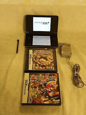 $68 • Buy Nintendo DSi XL Brown Bronze With Charger Stylus Mario Party & Carnival Games