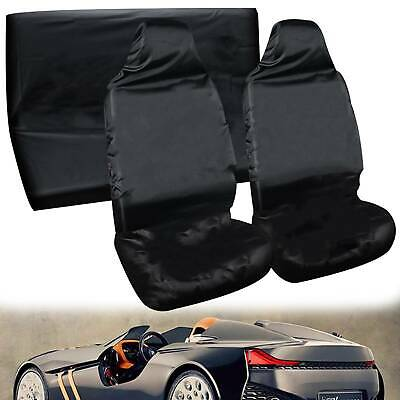 Black Heavy Duty Waterproof Full Set Car Seat Covers Protectors Universal Dog • 8.99£