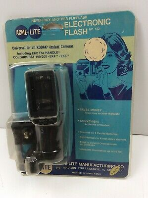 New Old Stock Acme-Lite Electronic Flash 132 For Kodak Instant Film Cameras  • 14.31£