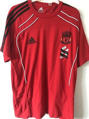 Liverpool Fc T Shirt Size 42/44 Adidas Excellent Condition • 12£