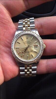 $ CDN9329.47 • Buy Rolex Datejust 36mm Solid Gold & Stainless16013 Wrist Watch For Men Or Women