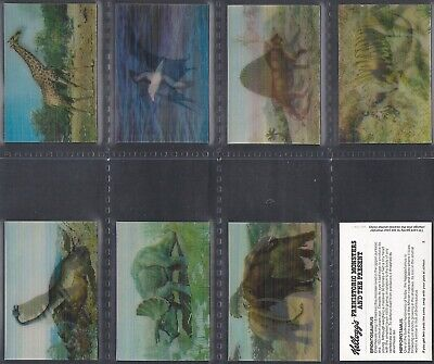 Kelloggs-full Set- Prehistoric Monsters & The Present (8 Cards) - Exc+++ • 11.24£