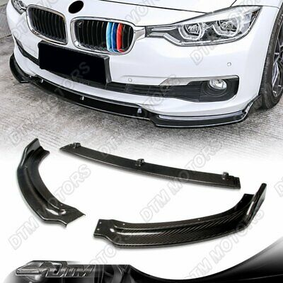 AU262.16 • Buy For 2013-2018 BMW F30 3-Series Base Real Carbon Fiber Front Bumper Body Lip 3PC