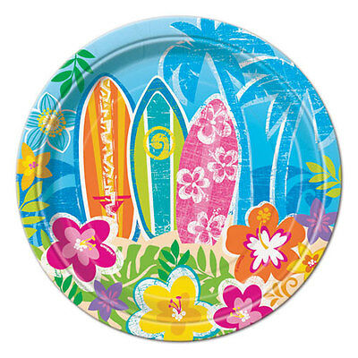 LUAU Hula Beach Party SMALL PAPER PLATES (8) ~ Supplies Birthday Party Summer • 2.79£