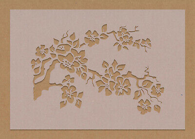 £3.49 • Buy Cherry Blossom Tree Branch In Bloom Stencil Flowers Floral Wall Art Crafts Chic