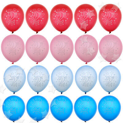 AU16.76 • Buy 20 X Baby 2nd Birthday Latex Blue/ Pink Oval Balloons Party Celebration Decor