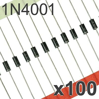 $ CDN4.44 • Buy 100x 1N4001 DO-41 Diode - 1A General Purpose Rectifier Diodes 58mm