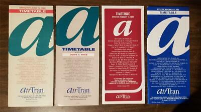 $8.09 • Buy AIR TRAN AIRWAYS Airlines Timetable Lot Of 4 1998 2000 2003 2004 A238
