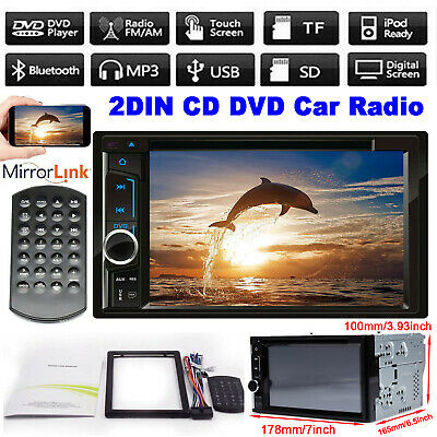 Mirror Link For GPS Navi Android 6.2'' Double DIN Car Stereo Head Unit Radio CD • 63.90£