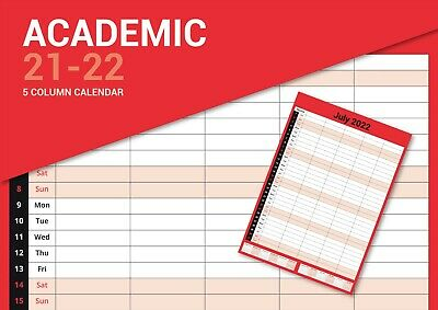 2021 A4 Monthly Planner Calendar Staff Rota Family Organiser 1 Month To View LTV • 2.59£