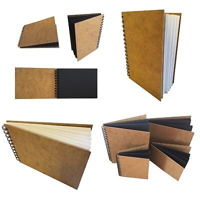 Eco-arts Sketch Book Pad Scrapbook Hardback Drawing White Black Kraft A5 A4 A3 • 7.99£
