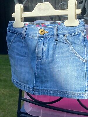£2.50 • Buy Baby Gap Girls Denim Skirt Set With Adjustable Waist Aged 3 Years ExceCondition