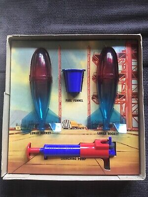 Merit Lunar Space Rocket Vintage 60's Toy - Boxed In Amazing Condition! • 45£