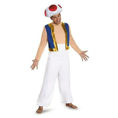 $16.64 • Buy Super Mario Bros Toad Adult Size 2XL Nintendo Costume Licensed Disguise CHOP