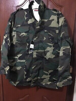 AU70 • Buy Hunting M65 Field Jacket Woodland Camo Colour Military Combat Style Size 2XL