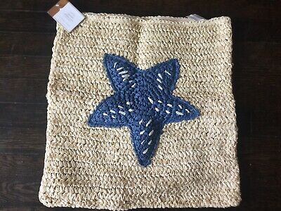 $37.97 • Buy Pottery Barn Starfish Beach Nautical Pillow Cover 18x18 NWT Sold Out!