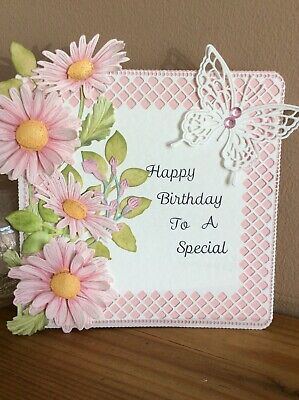 Personalised Handmade Floral Happy Birthday Card Topper / Card • 2.45£