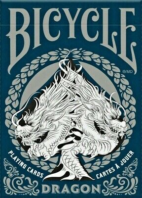Bicycle Dragon Playing Cards U.S.P.C.C Blue - Collectible New Sealed Deck • 6.80£